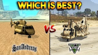 GTA 5 VS GTA SAN ANDREAS CARGOBOB : WHICH IS BEST? thumbnail
