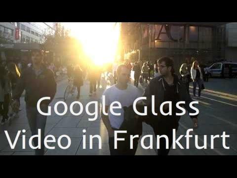 Google Glass Video In Zeil, Frankfurt, Germany