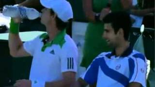 Chatty Djokovic & Murray during the Changeover at 2011 SEO