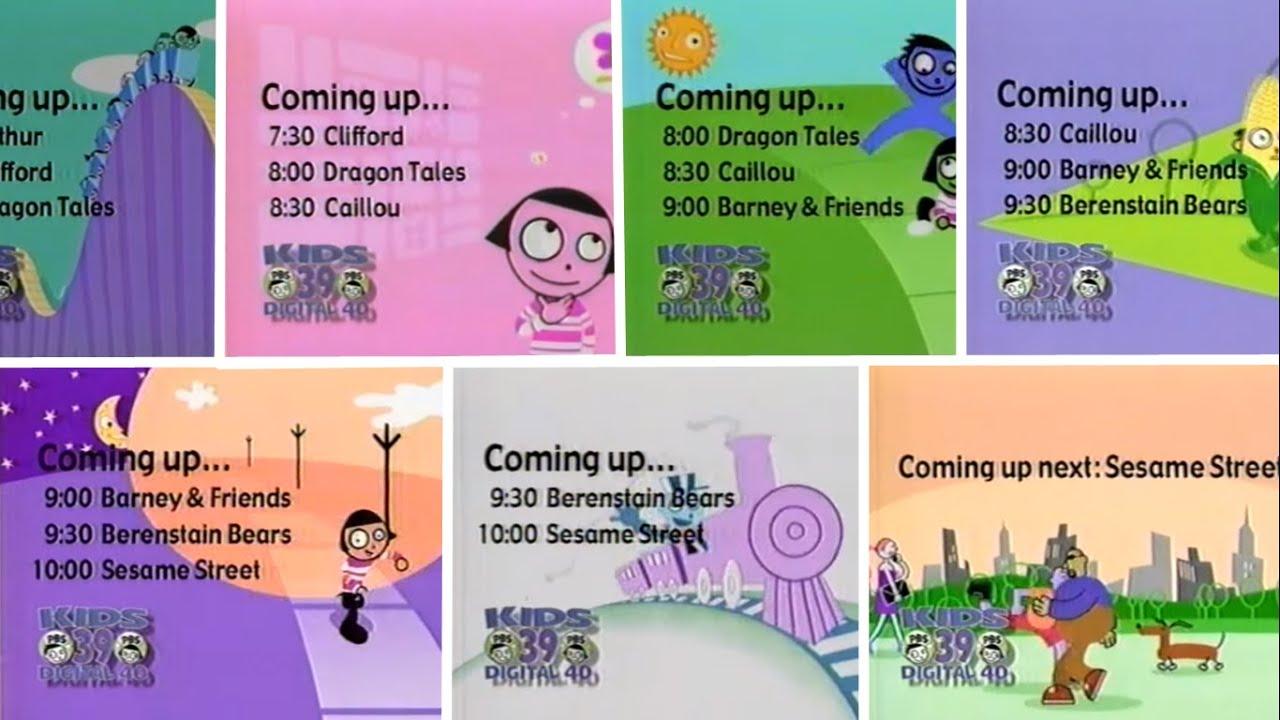 PBS Kids Schedule Bumper 2004 WFWA YouTube Caillou