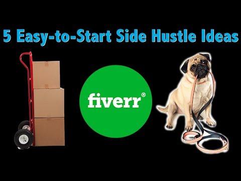 5 Easy-to-Start Side Hustle Ideas
