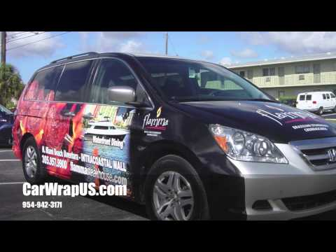 Honda Van, Partial 3M Vinyl Car Wrap, Flamma Stakehouse, Miami Beach