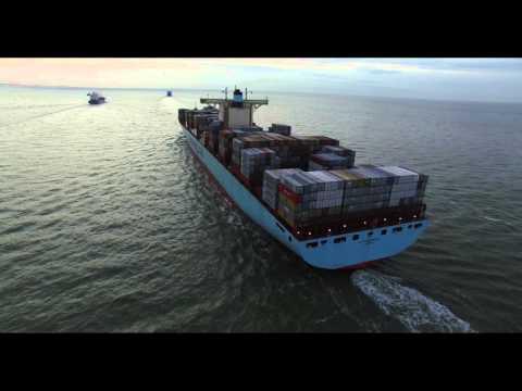 Container ship Eleonora Maersk | Breskens -  The Scheldt - Zeeland (NL) 19-02-2016 | DJI phantom 3