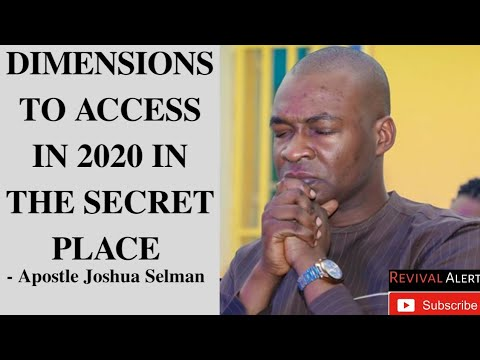 [Crucial] Dimensions To Access In 2020 In Your Secret Place.