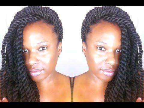 Natural Hair: Havana Twist using Freetress Equal Cuban Twist Hair {Tutorial}