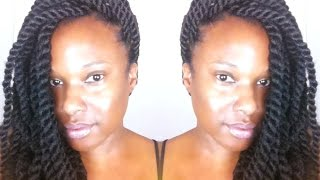 Natural Hair: Havana Twist using Freetress Equal Cuban Twist Hair {Tutorial}