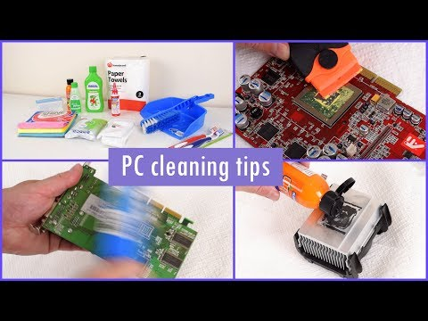 How I clean old computer parts with household products