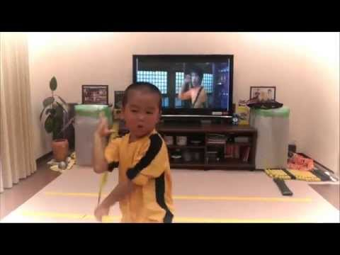 My Son Acting Bruce Lees Game Of Nunchaku