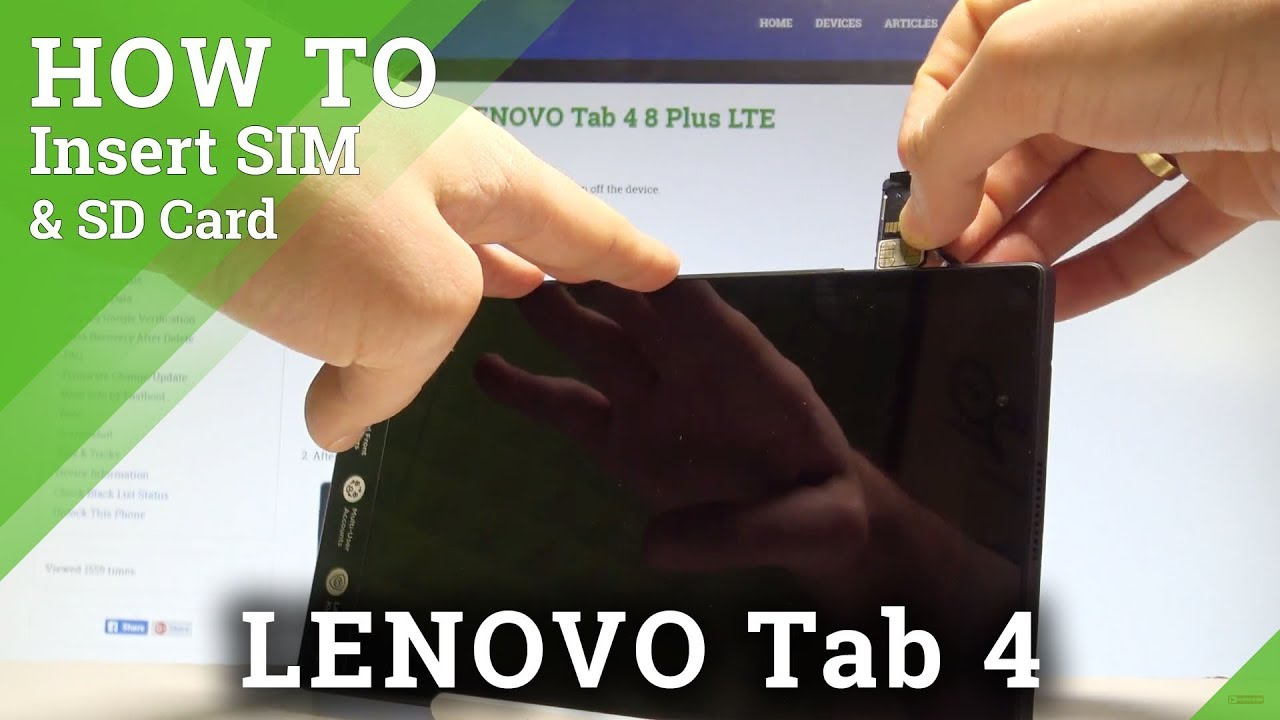 How to Insert SIM and SD in LENOVO Tab 4 - Install SIM & SD Card  |HardReset Info