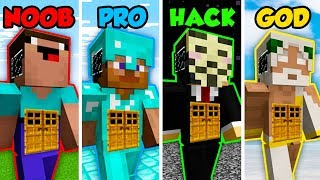 Minecraft NOOB vs. PRO vs. HACKER vs GOD: GIANT LIVING HOUSE in Minecraft! (Animation)