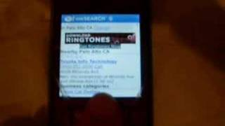 Yahoo by Voice on Blackberry 8130