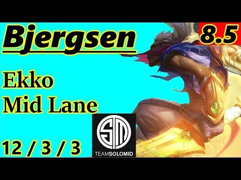 Bjergsen as Ekko Mid Lane - S8 Patch 8.5 - NA Challenger - Full Gameplay