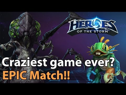 ► EPIC: Insanely intense Heroes of the Storm match! - Murky, Medivh, Abathur!
