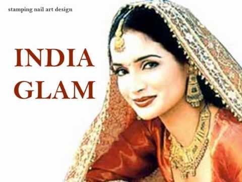 """""""India glam"""" stamping nail art"""