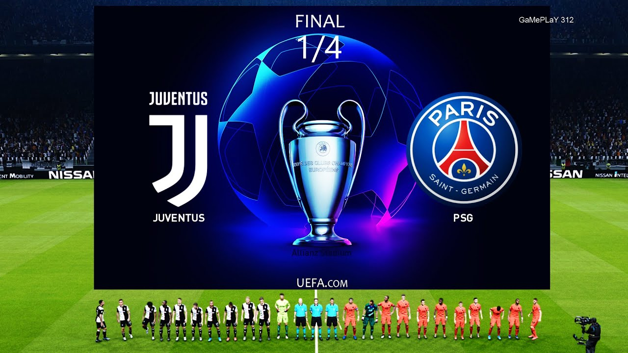 Pes 2020 Juventus Vs Paris Saint Germain 1 4 Final Uefa Champions League Gameplay Pc Youtube