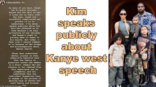 Kim Kardashian Speaks Out About Kanye West's Mental Health   Kim Kardashian & Kanye West Latest News