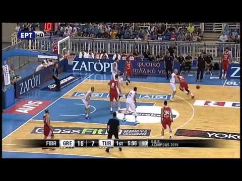 Giannis Antetokounmpo, Nick Calathes ,Kostas Koufos Highlights (Greece Vs Turkey 62-58)