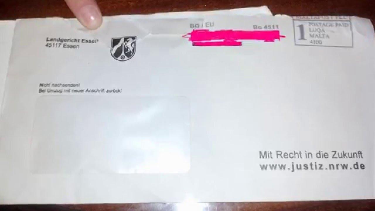 Briefe Mit Briefmarken Bekleben : Landgericht essen briefe werden mit briefmarken stemple