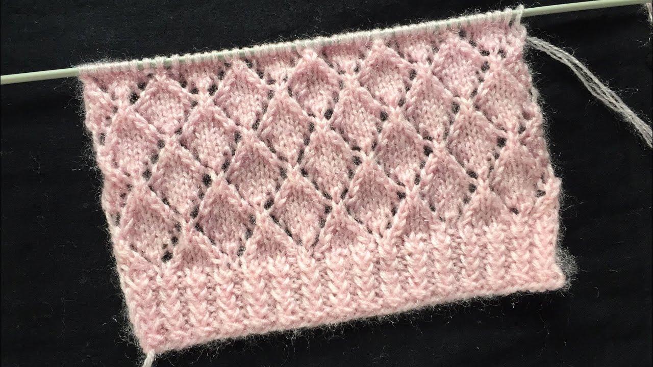 Diamond Knitting Stitch Pattern - YouTube