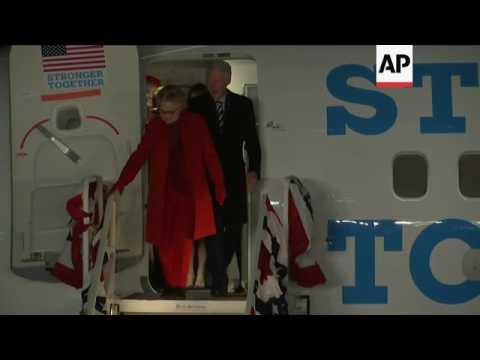 Supporters greet Hillary Clinton near New York home