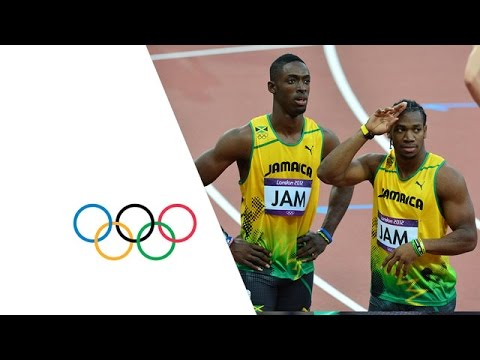 Men's 4x100m Round 1 Highlights -- Jamaica & USA Win -- London 2012 Olympics