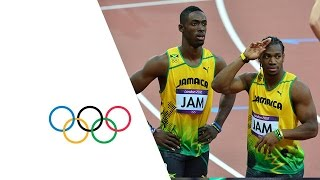 Men's 4x100m Round 1 Highlights -- Jamaica & USA Win -- London 2012 Olympics