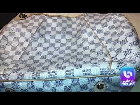 Cleaning my Louis Vuitton damier azur