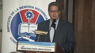 Pedro Corzo - Conferencia «Cuba: Diplomáticos y Espías» por Luis Domínguez