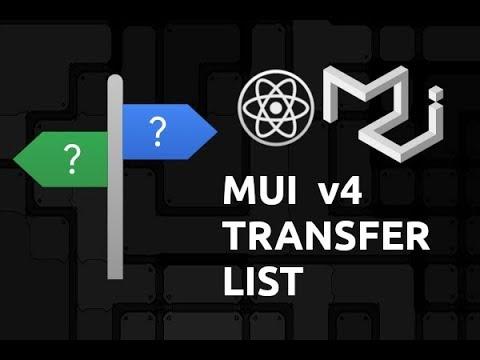 Material UI v4 TransferList