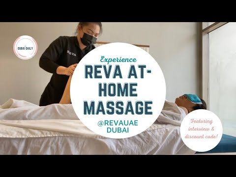 THE DUBAI DAILY: Experience a REVA At-Home Massage Plus Interview w/ Founder & Discount Code