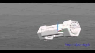 Образец простой 3D модели в AutoCAD