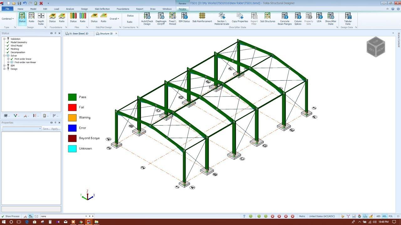 DESIGN OF STEEL PORTAL FRAME IN TEKLA STRUCTURAL DESIGNER 2018-PART2/2