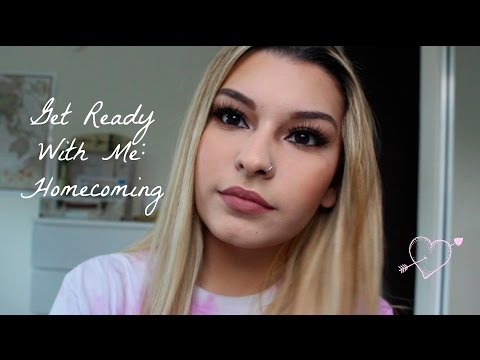 Get Ready With Me: Homecoming || Hair, Makeup, Outfit.