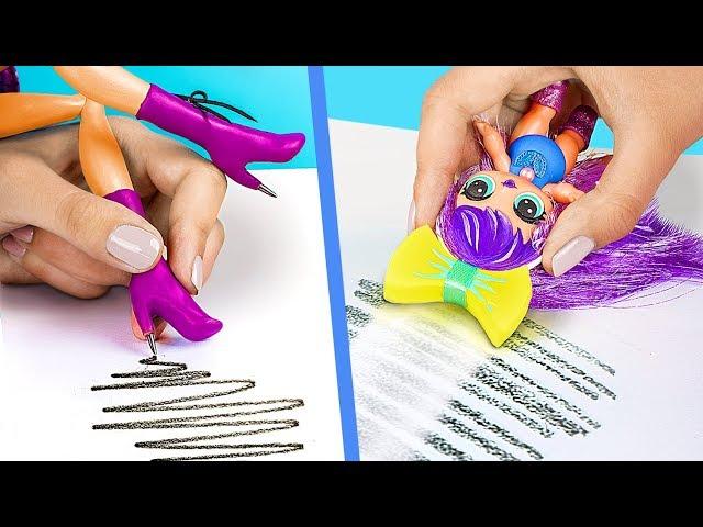 9 Formas Extrañas De Escabullir Barbies A Clase / Locos Trucos Para Tu Barbie y Muñeca LOL Surprise