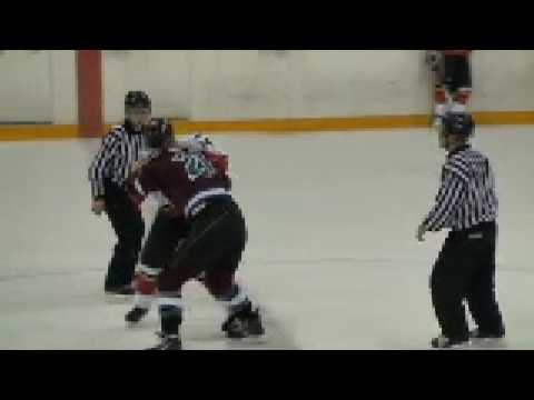 PIJHL Mission Icebreakers at Ridge Meadows Flames Feb 13 09 3 Fights