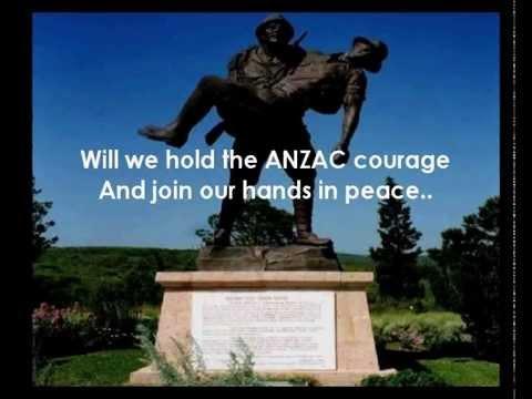 The Last ANZAC  Lyrics - see permission to perform details below