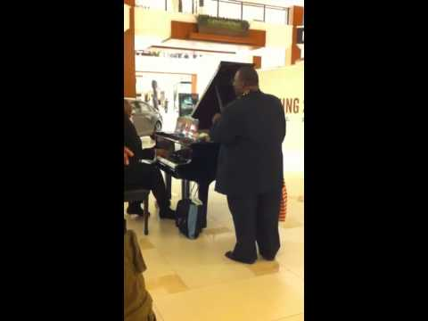Random people singing at the mall