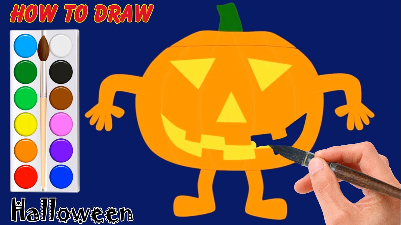 Halloween Movie Pumpkin Drawing.Halloween Clipart Designs How To Draw Halloween Scary Movie Drawings