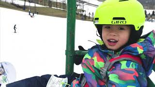 4 Year Old Liam Advancing His Snowboarding Skills 2018-19