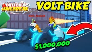 BUYING THE VOLT BIKE!! *$1,000,000* McLaren and ATV New Vehicles! (Roblox Jailbreak Winter Update)