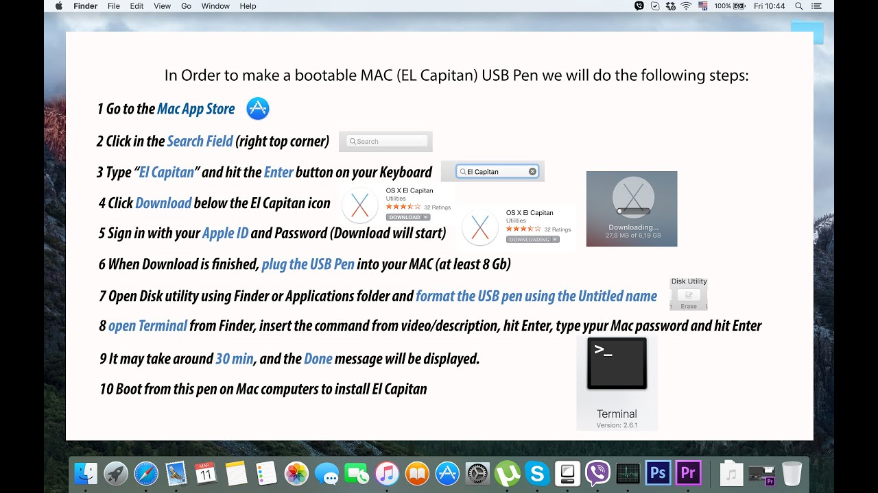 Create OS El Capitan bootable USB Drive