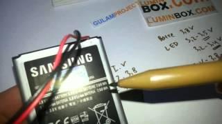 Cara Nyalain Lampu LED pakai Batre Handphone
