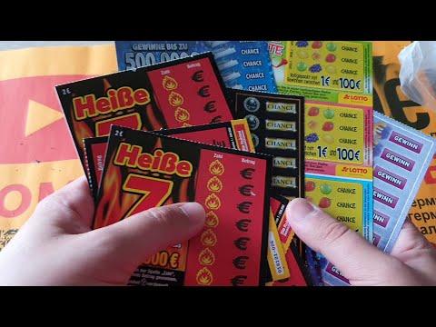 Выиграл в моментальной лотерее - стираю лотерейные билеты из Германии