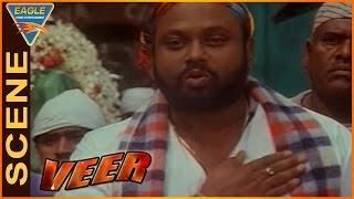Veer Movie || Rami Reddy, Deepak Shirke Warn Each Other || Dharmendra || Eagle Hindi Movies