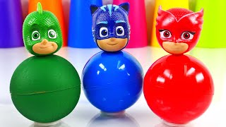 Learn Colors with wrong Heads of PJ Masks Toys #pjmasks