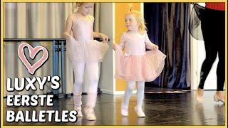 LUXY'S EERSTE BALLETLES 🩰   Bellinga Vlog #2221