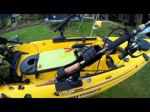 Kayak Fishing Rig With Trolling Motor Drive System