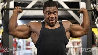 IFBB Pro Brandon Curry Trains Shoulders and Arms 4 Weeks Out from the 2014 Arnold Classic (Part 1)