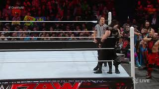"""Roman Reigns competes in a """"One vs. All"""" Match: Raw, January 11, 2016"""