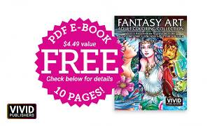 FREE 10 Page PDF - Fantasy Art Adult Coloring Collection - Flip Through